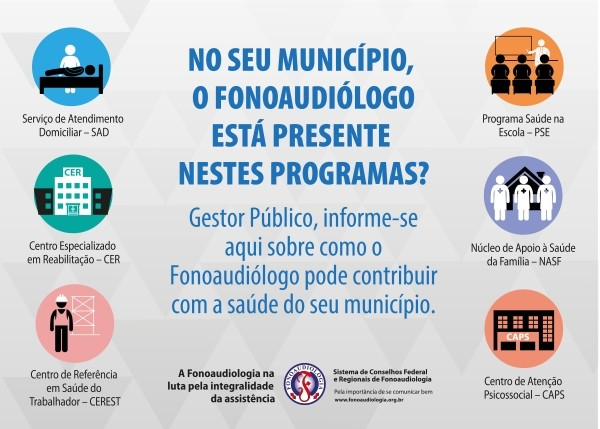 Banner – Fonoaudiologia na luta pela integralidade da assistência