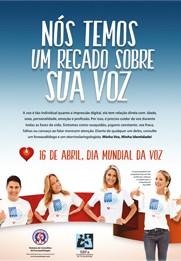 Campanha Mundial Dia da Voz – 16 de abril